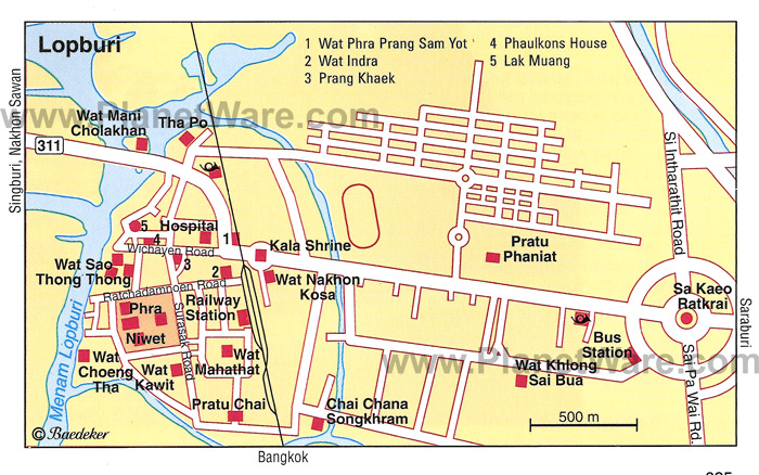 Lopburi Thailand Map.Lopburi Www William Voirol Ch Thailand